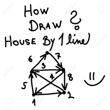 how draw simple house by one line royalty free cliparts vectors