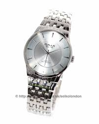 omax gents silver dial watch stainless steel finish seiko japan