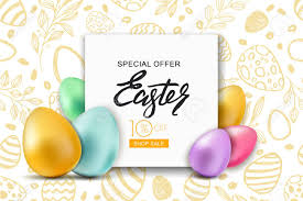 easter eggs sale happy easter sale banner vector frame with multicolor