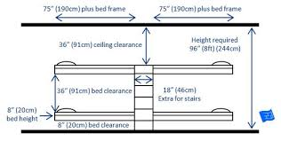 The Most Common Arrangement For Built In Bunk Beds For  Bunks - Height of bunk beds