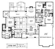 big kitchen house plans 4 5 bedroom one story house plan with exercise room office