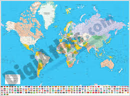 World Map Country Flags Vectorized Maps Digital Maps Increase Search Engine Traffic
