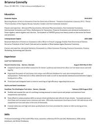 My First Resume Template Cover Letter High Student No Experience