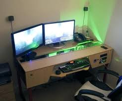 Gaming Station Computer Desk Desk Built In Pc Bethebridge Co