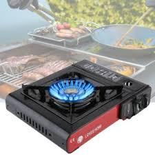 portable table top butane stove black red portable stove single burner butane gas cing tabletop