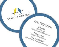 Round Business Card Round Business Cards Etsy
