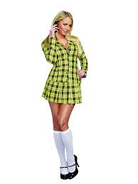party city halloween costumes magazine amazon com dreamgirl women u0027s fancy yellow plaid clueless
