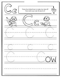 trace letter c worksheets activity shelter