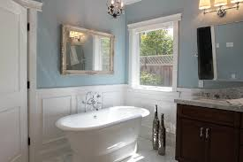 Bathroom Mirror Molding Bathtub Ideas Inspiring Chrome Chair Rail Molding Bathroom