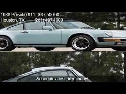 1988 porsche 911 coupe for sale 1988 porsche 911 2dr coupe for sale in houston tx 7