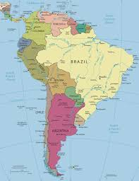 Latin And South America Map by South America Political Map