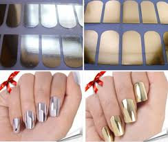 2014 new fashion 16pcs beauty nail 2 colors silver gold