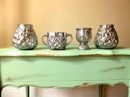 Mercury Glass Urn Vase Set Of 9 Vases Mercury Glass Bud Vases Mix And Match Vases