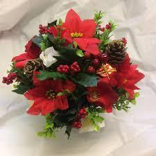 Christmas Grave Decorations Artificial Christmas Flowers And Decorations U2013 Abigailrose