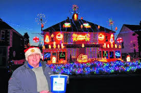 dazzling house lights up