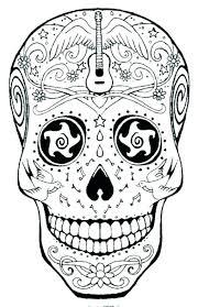 printable coloring pages sugar skulls sugar skull color pages coloring sugar sheets printable coloring