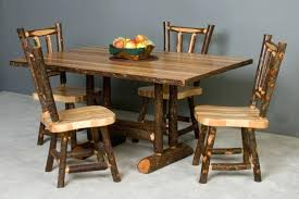 rustic log dining room tables log dining table and chairs ilovefitness club