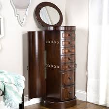 Tall Jewelry Armoire Bailey Jewelry Armoire Antique Walnut Hives And Honey