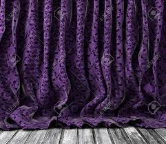 Vintage Floral Curtains Background Vintage Floral Curtains In Purple Toned Wood Floor
