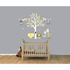 Vinyl Tree Wall Decals For Nursery by U0026 Gray Jungle Tree Wall Decal With Monkey Wall Stickers For