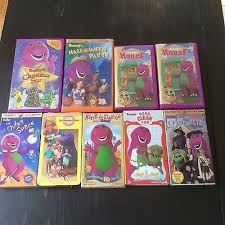 Barney Backyard Show Lot Of 9 Barney Dinosaur Vcr Vhs Tapes Christmas Backyard Show