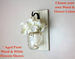 Wall Sconces For Flowers Mason Jar Sconces Etsy