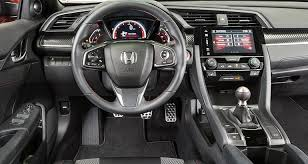 inside of a honda civic sporty 2017 honda civic si lacks spice consumer reports