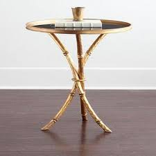 Glass Top Accent Table Round Metal Glass Gold Accent Table