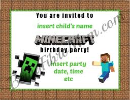 minecraft birthday invitations minecraft birthday party printables decorations and food
