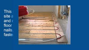 Heated Laminate Flooring Advantages Of Thermofin U For Radiant Heated Floors Youtube