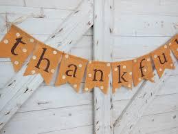 burlap thanksgiving banner thanksgiving decor thankful banner thanksgiving banner