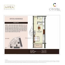 crystal residence studio apartments type 02 floor plans