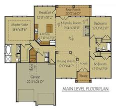 mountain cabin floor plans 1 story 3 bedroom house plan oak mountain cottage