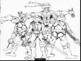 astounding teenage mutant ninja turtles coloring pages with ninja