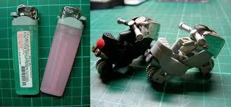 membuat mainan dr barang bekas cara membuat korek api gas bekas menjadi sepeda motor mainan unik