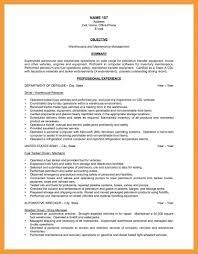 exle of a warehouse resume 9 warehouse resume objective pdf for supervisor sles 20 12