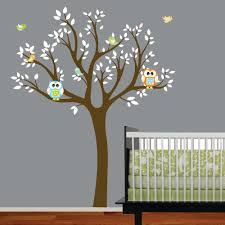 Nursery Tree Wall Decal by Birch Tree Winter Forest Set Vinyl Wall Decal 1161 With Tree Wall