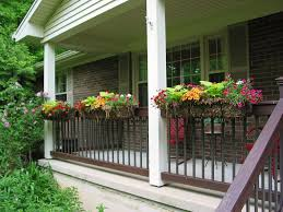 decor balcony rail planters railing planter box deck rail