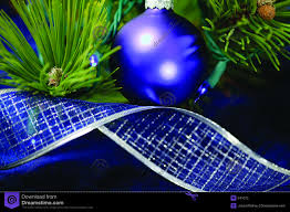 Christmas Tree Decorations Blue And Green by Christmas Tree With Blue Decorations Stock Image Image 33037111
