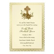 Catholic Wedding Invitation Cross Wedding Invitations U0026 Announcements Zazzle