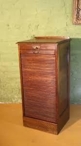 vintage oak tambour fronted filing cabinet 1920s antiques atlas