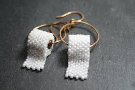 paper earrings beaded toilet paper earrings yapins