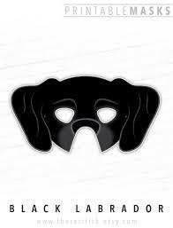 Great Dane Home Decor Black Labrador Great Dane Printable Dog Mask Black Lab Hound