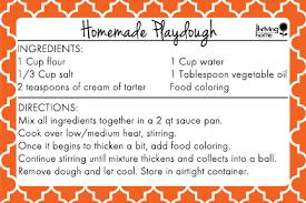 printable playdough recipes easy homemade playdough recipe free printable thriving home