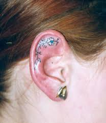 inner ear tattoos car pictures ear tattoos pinterest tattoo