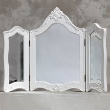 folding dressing table mirror provence three folding dressing table white mirror