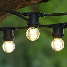 100 ft black commercial c9 string light with led g30 warm white bulbs