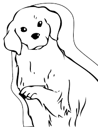 golden retriever coloring page handipoints dog and cat coloring