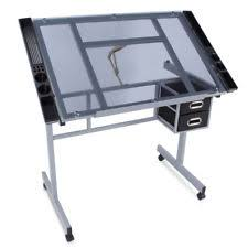 Glass Drafting Table With Light Art Table Ebay