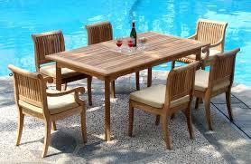 Refinishing Teak Patio Furniture Teak Wood Patio Furniture Set Outdoorlivingdecor